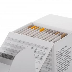 Zestaw próbek z etykietami