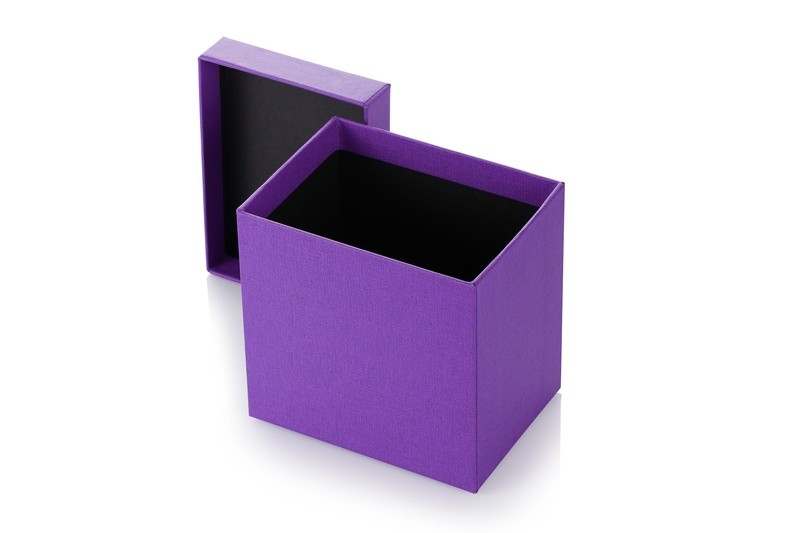 pudełko oklejone tkaniną III